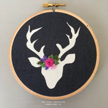 Embroidered Deer Ornament for the Christmas Tree by And Other Adventures