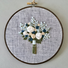 Handmade wedding bouquet gift by And Other Adventures Embroidery Co