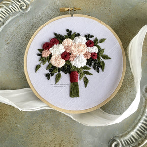 Embroider your own wedding bouquet with the Brianna hand embroidery kit by And Other Adventures Embroidery Co