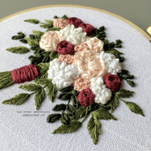 Floral Bouquet Hand Embroidery Kit - The Brianna Bouquet