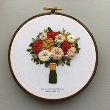 Hand Stitched Fall Floral Bouquet by And Other Adventures Embroidery Co