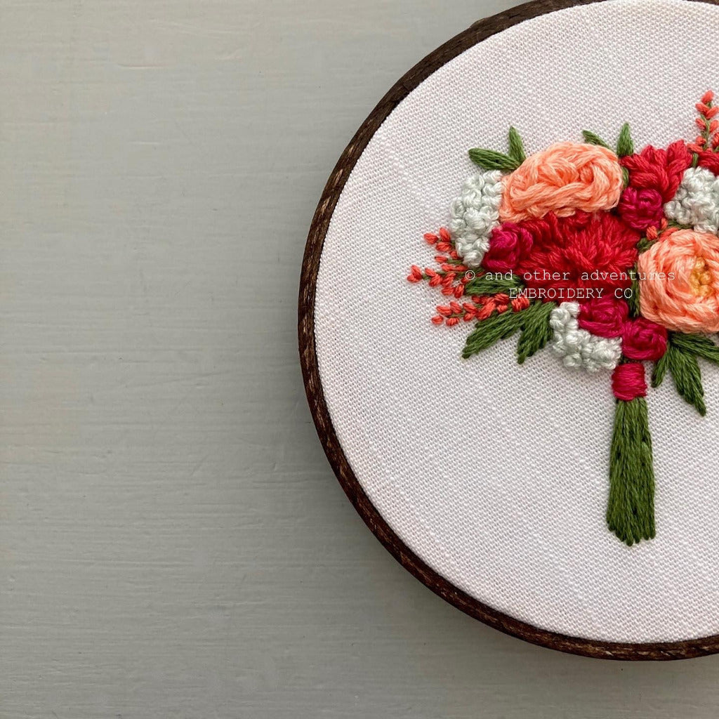 Bright and Bold hand stitched floral art | And Other Adventures Embroidery Co