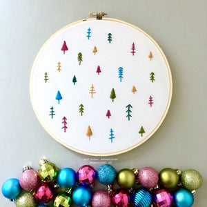 Oh Christmas Tree - hand embroidery digital pattern by And Other Adventures Embroidery Co