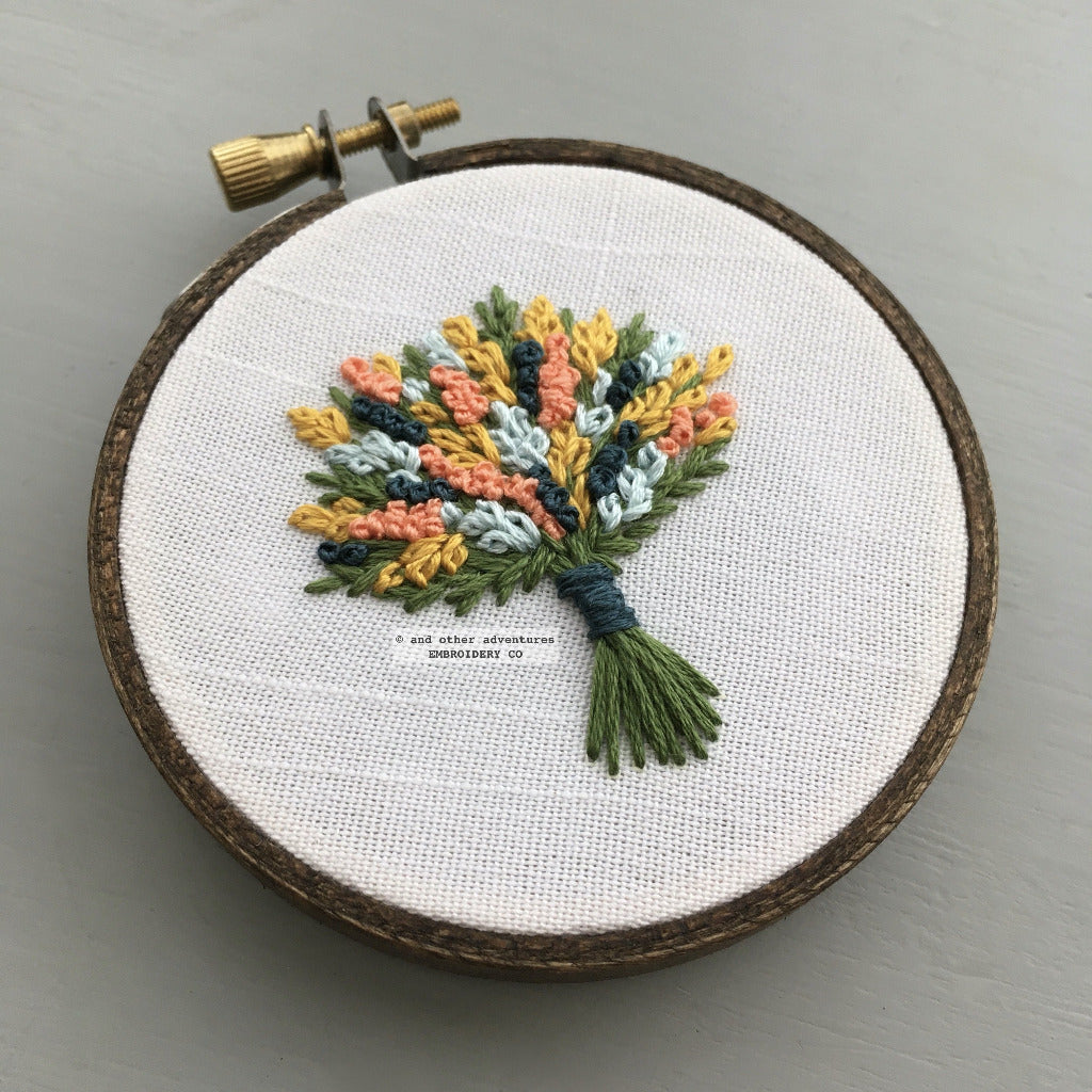 Hand Embroidered Bouquet No. 71