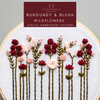Burgundy & Blush Wildflower Beginnger Hand Embroidery Pattern | And Other Adventures Embroidery Co