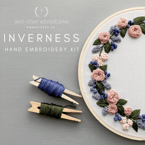 Inverness - Lilac & Dusty Rose Embroidery Kit | And Other Adventures Embroidery Co