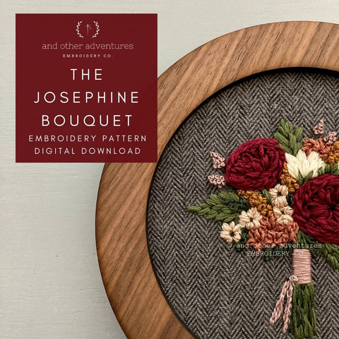 The Josephine Bouquet digital hand embroidery pattern   And Other Adventures Embroidery Co