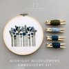 Midnight Blue Wildflowers Hand Embroidery Kit for Beginners | And Other Adventures Embroidery Co