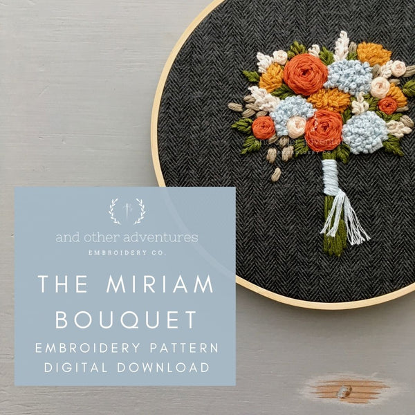 The Miriam Bouquet Hand Embroidery Digital Pattern   And Other Adventures Embroidery Co