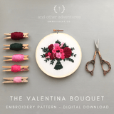 Valentina Bouquet - Digital Pattern | And Other Adventures Embroidery Co