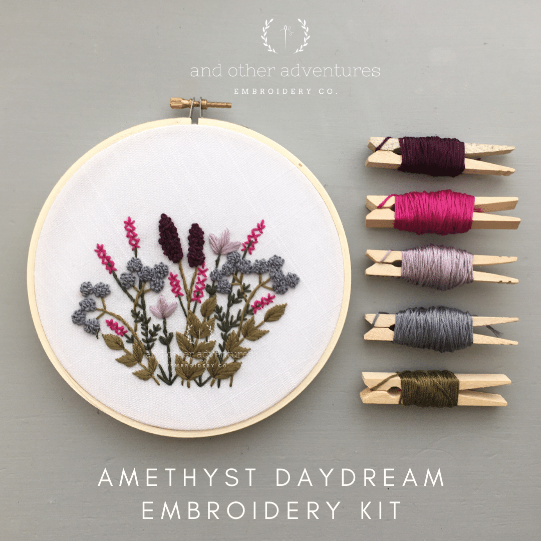 Hand Embroidery Kit - Amethyst Daydream