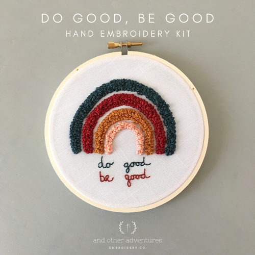 Beginner Rainbow Hoop Art Project by And Other Adventures Embroidery Co