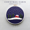 Beginner Hand Embroidery Kit - Christmas Cabin by And Other Adventures Embroidery Co