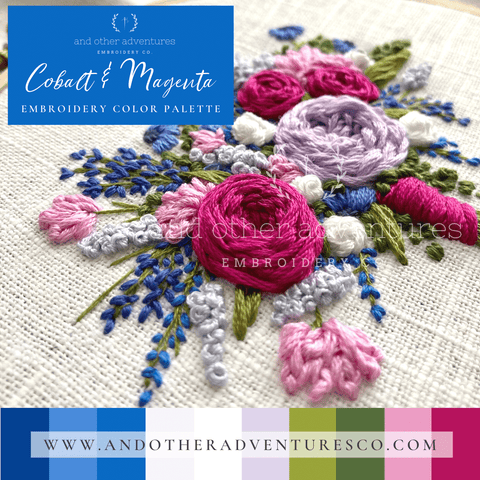Cobalt & Magenta Color Palette | And Other Adventures Embroidery Co
