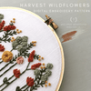 Harvest Wildflower Embroidery Design Pattern by And Other Adventures Embroidery Co