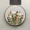 Hawthorne Beginner Embroidery Pattern Digital Download | And Other Adventures Embroidery Co