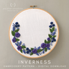 Blue and Purple Floral Wreath Hand Embroidery Digital Pattern | And Other Adventures Embroidery Co