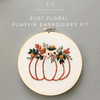 Beginner Hand Embroidery Kit - Rust Floral Pumpkin | And Other Adventures Embroidery Co