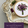 The Violette Bouquet Purple Florals Hand Embroidery Kit for Beginners | And Other Adventures Embroidery Co