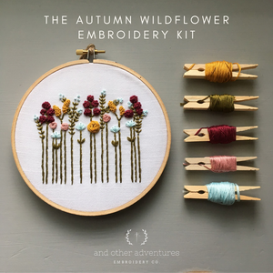 Beginner DIY Hand Embroidery Kit - Autumn Wildflowers by And Other Adventures Embroidery Co