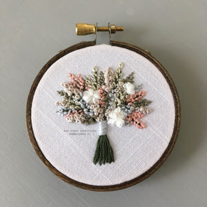 Hand Embroidered Wildflower Bouquet Hoop Art by And Other Adventures Embroidery Co