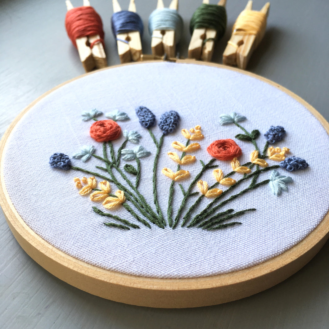 Springtime - Hand Stitched Embroidery Hoop Artwork