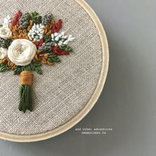 Rust and Mustard Floral Embroidery Hoop by And Other Adventures Embroidery Co