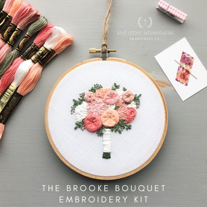 The Brooke Bouquet DIY Hand Embroidery Kit by And Other Adventures Embroidery Co