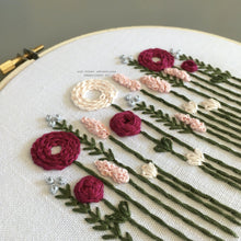 Pink Florals DIY Beginner Hand Embroidery Kit by And Other Adventures Embroidery Co
