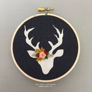 Embroidered Deer Ornament by And Other Adventures Embroidery Co