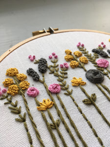 embroidered wildflowers