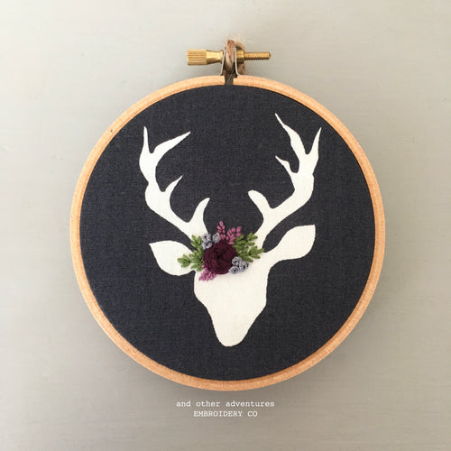 Embroidered Christmas Deer Ornament by And Other Adventures Embroidery Co