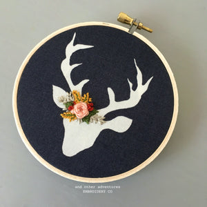 Hand Embroidered Christmas Ornament by And Other Adventures Embroidery Co