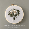 Serene Neutral Bouquet Hand Embroidery Kit | And Other Adventures Embroidery Co