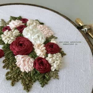 Holiday Floral Embroidery by And Other Adventures Embroidery Co