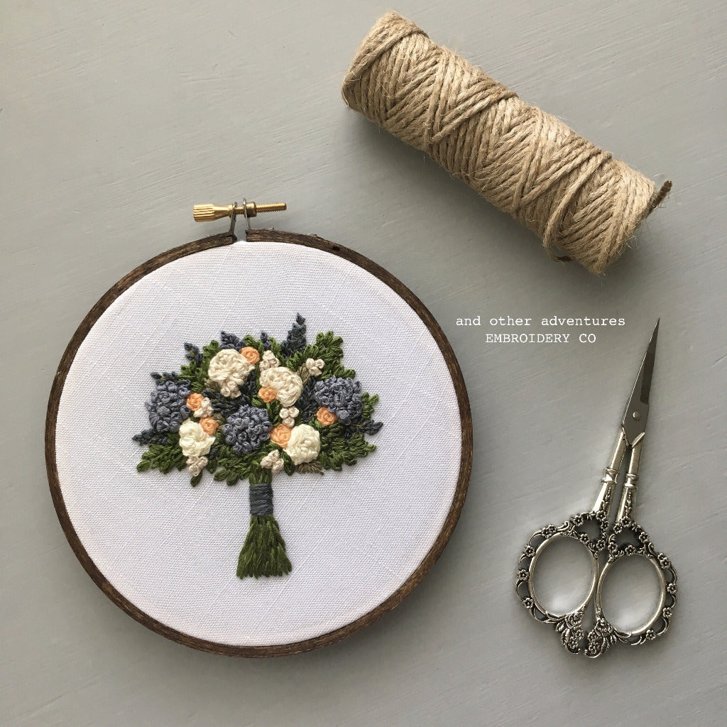 Hand Embroidered Floral Bouquet Hoop Art by And Other Adventures Embroidery Co