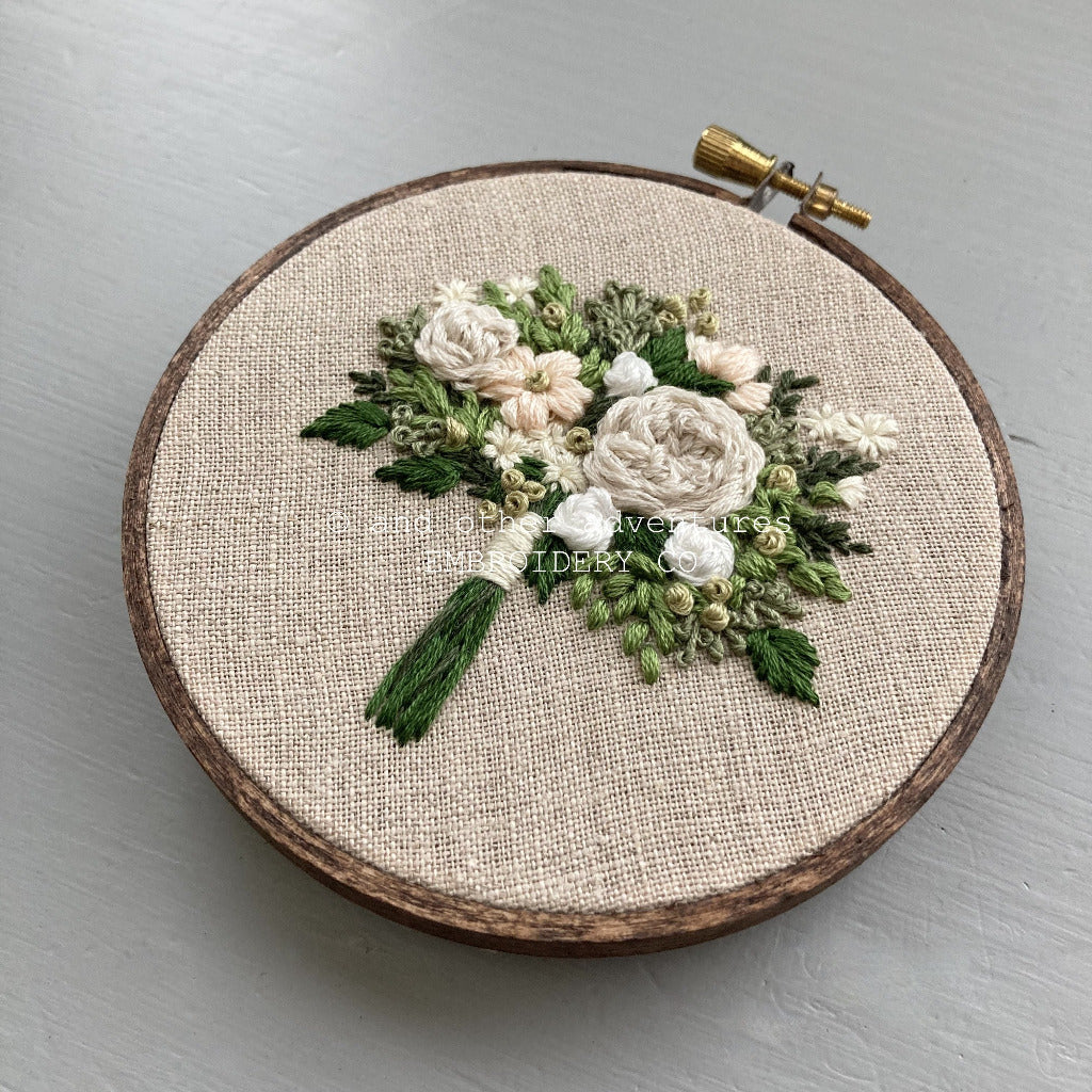 Ivory and Green Embroidered Bout | And Other Adventures Embroidery Co