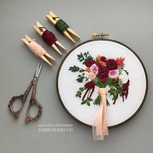 Bridal Bouquet Embroidery