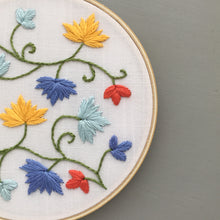 Colorful embroidery wall hanging