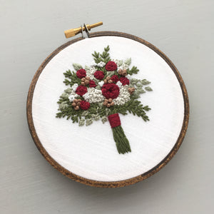 rosemary bouquet embroidery