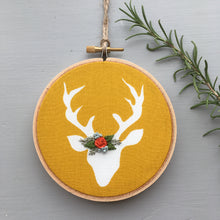 Deer Floral Crown Hand Embroidery by And Other Adventures Embroidery Co