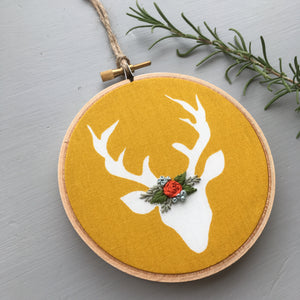 Woodland Stag Embroidery