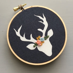 Christmas Deer Embroidered Ornament by And Other Adventures Embroidery Co