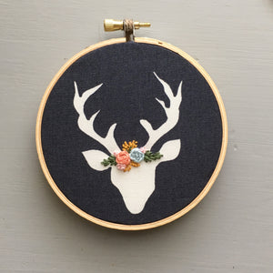 Christmas Stag Embroidered Ornament by And Other Adventures Embroidery Co