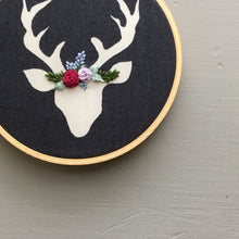 Embroidered Ornament Floral Crown Stag by And Other Adventures Embroidery Co