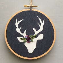And Other Adventures Embroidered Deer Wall Hanging