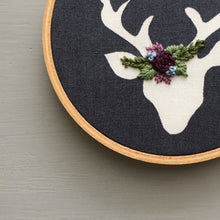 And Other Adventures Embroidered Deer Christmas Ornament