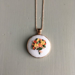 hand embroidered necklace by And Other Adventures Embroidery Co