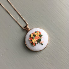 hand stitched floral bouquet necklace by And Other Adventures