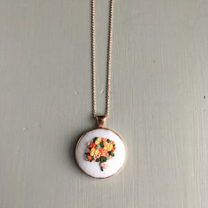 embroidered necklace by And Other Adventures Embroidery Co